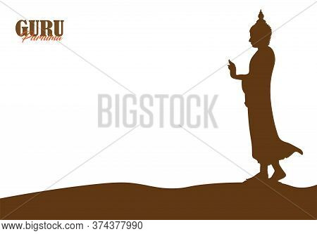 Vector Illustration Of Guru Purnima Celebration In India And Nepal. Vesak Day.
