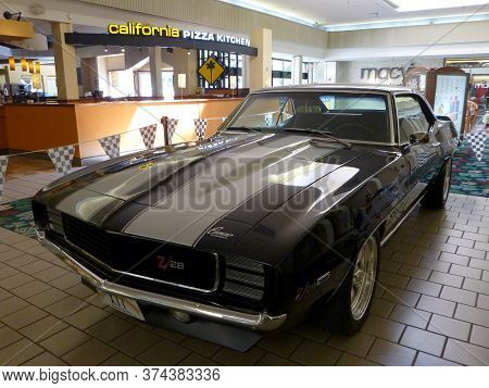 Honolulu - June 2, 2013: Classic Chevrolet Camaro Car On Display Inside The Kahala Mall By Californi