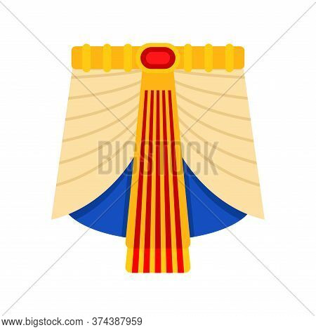 Pharaoh Loincloth Isolated. Rulers Of Ancient Egypt Clothes
