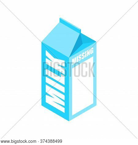 Milk Box Template Missing. Search For Missing People On Milk Packaging Mocap And Space For Your Pict