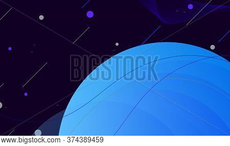 Trendy Gradient Shapes Background Composition With Curved Lines. Colorful Geometric Background. Flui
