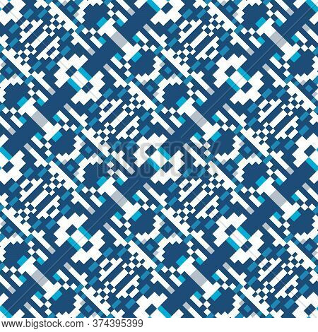 Abstract Seamless Pattern Of Geometric Shapes. Pattern For Your Design Of Clothes, Home Textiles Or