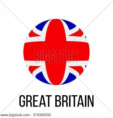 Great Britain Flag In Circle. Great Britain Flag. National Great Britain Flag. Flag Background. Vect