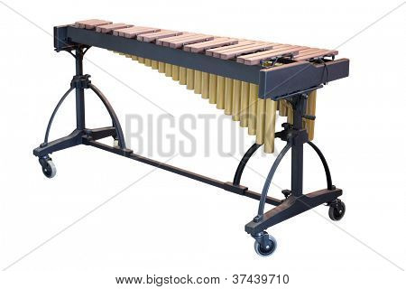 The image of a xylophone under a white background