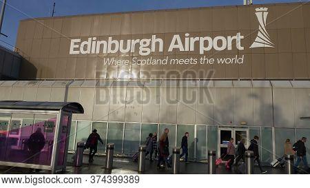 Main Terminal Of Edinburgh Airport - Edinburgh, United Kingdom - January 10, 2020