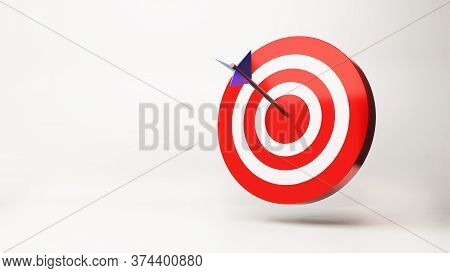 Arrow Is Exactly On The Target , 3D Render