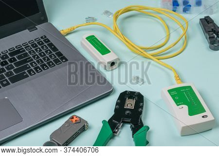 Check Whether The Ethernet Cable Is Connected Correctly To The Laptop. Connection To The Internet.