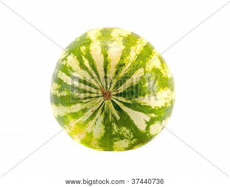 Isolated On White Watermelon