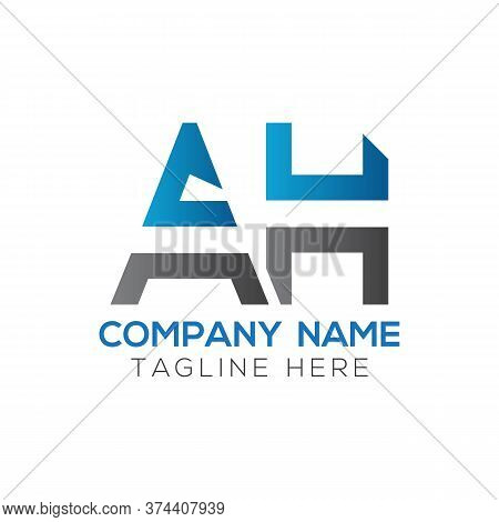 Initial Ah Letter Logo Design Modern Business Typography Vector Template. Creative Linked Letter Ah