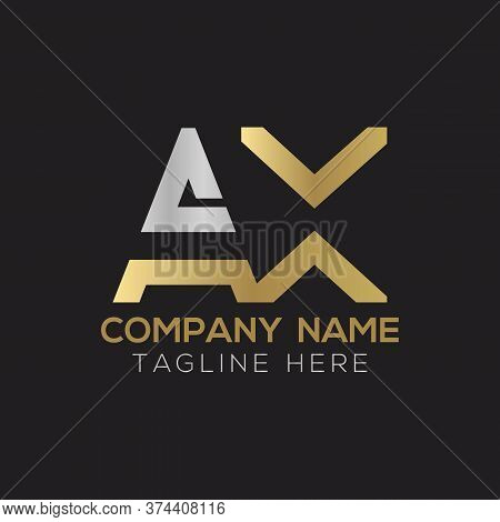 Initial Ax Letter Logo Design Modern Business Typography Vector Template. Creative Linked Letter Ax