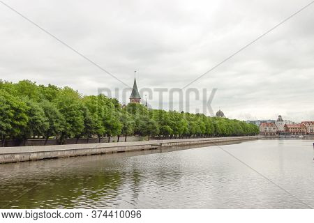 Kant Island And The Fish Village By The Pregol River In Kaliningrad, Russia. Photographed June 15, 2