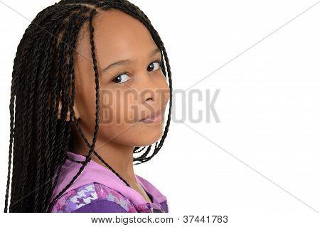 Portrait black female child