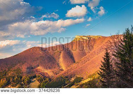 Klak Hill, A Distinctive Rocky Peak On The Main Ridge Of The Southern Part Of Mala Fatra Mountain, S
