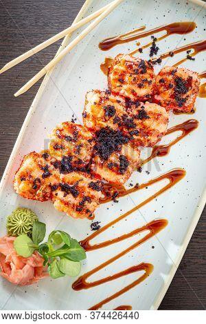 Koumi Maki Hot Sushi With Crab Sticks, Avocado