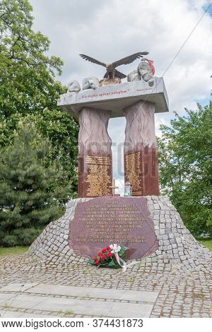 Wyszkow, Poland - June 2, 2020: Memorial To Soldiers Of The National Army, The Resistance Of The Nat