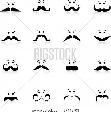 Funny moustache collection