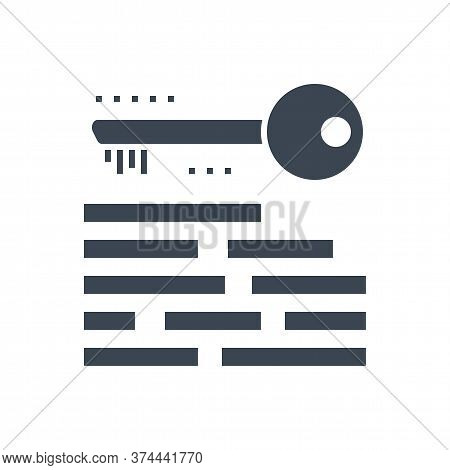 Keywording Related Vector Glyph Icon. Isolated On White Background. Vector Illustration.