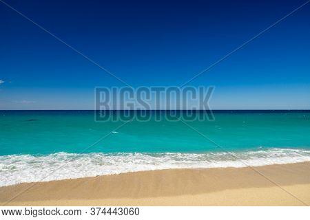 Avali beach in Lefkada Greece at sunset