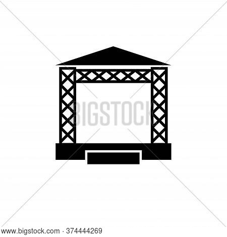 Concert Stage Icon, Isolated On White Background.