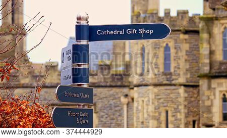 Famous Gloucester Cathedral In England - Gloucester, United Kingdom - January 1, 2019