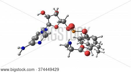 Tannic Acid Molecular Structure Isolated On White