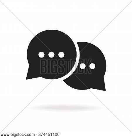 Speech Bubble Icon Isolated On Background For Support, Social Media, Communication, Chat Bot, Chatti