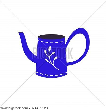 The Watering Can Is Isolated On A White Background.a Garden Tool Or Agricultural Tool For Use In Gar