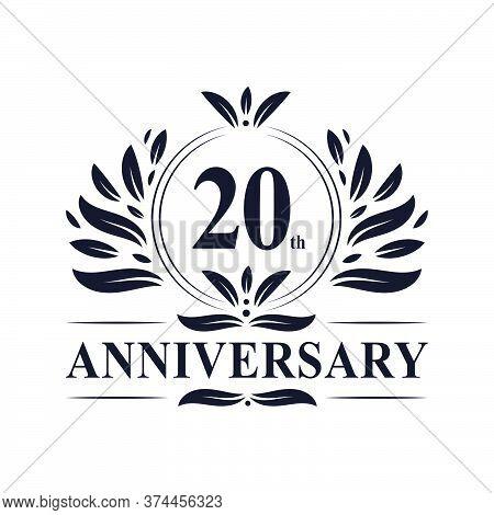 20th Anniversary Celebration, Luxurious 20 Years Anniversary Logo Design.