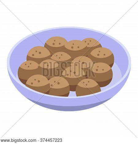 Sweden Cutlets Icon. Isometric Of Sweden Cutlets Vector Icon For Web Design Isolated On White Backgr