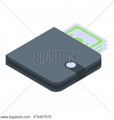 Hoax Money Wallet Icon. Isometric Of Hoax Money Wallet Vector Icon For Web Design Isolated On White