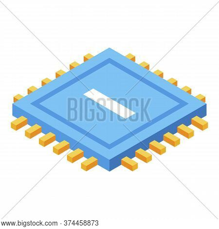 Processor Storage Icon. Isometric Of Processor Storage Vector Icon For Web Design Isolated On White