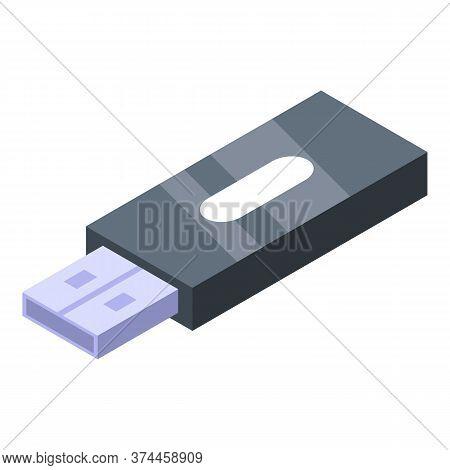 Usb Flash Storage Icon. Isometric Of Usb Flash Storage Vector Icon For Web Design Isolated On White