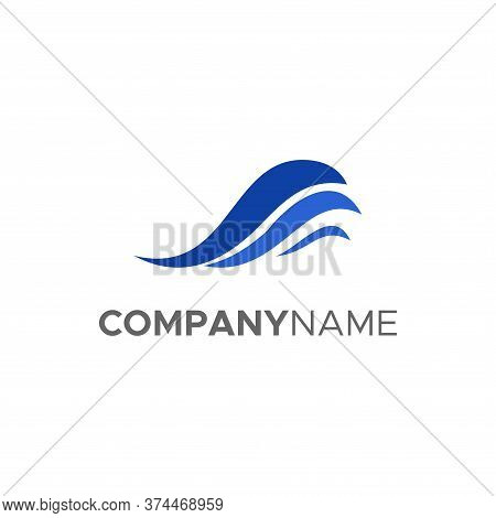 Water Wave Icon Logo Template Vector. Water Wave Icon Vector Illustration Design Logo Template. Blue