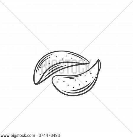 Potato Chips Outline Icon. Crispy Snack, Potato In The Form Of Crispy Plates Fried In Vegetable Oil.