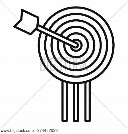 Video Game Arch Target Icon. Outline Video Game Arch Target Vector Icon For Web Design Isolated On W