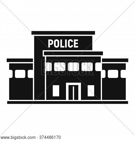 Police Station Building Icon. Simple Illustration Of Police Station Building Vector Icon For Web Des