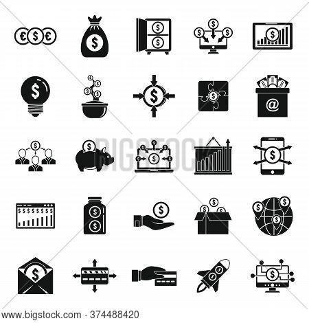 Crowdfunding Platform Community Icons Set. Simple Set Of Crowdfunding Platform Community Vector Icon