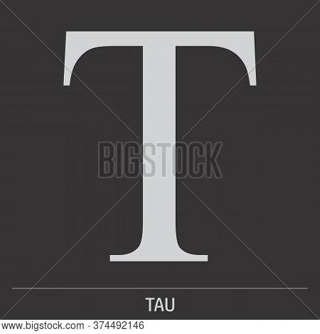 Uppercase Tau Greek Letter Icon On Dark Background
