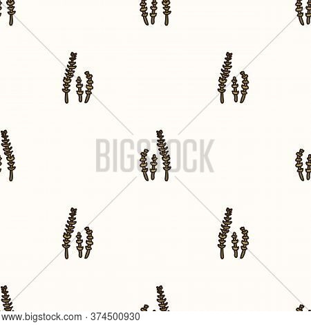 Seamless Background Horsetail Plant Gender Neutral Baby Pattern. Simple Whimsical Minimal Earthy 2 T
