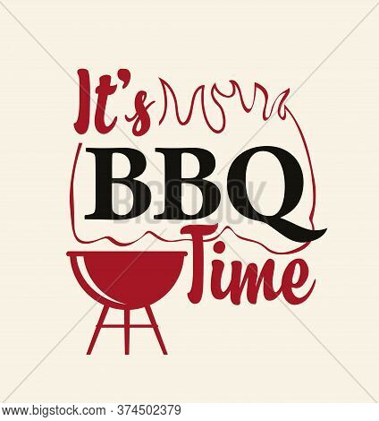 Bbq Or Barbecue Banner, Invitation Card, Flyer. Vector Illustration In A Flat Style With A Decorativ