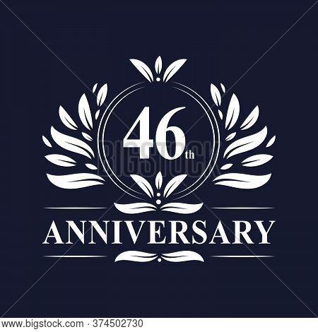 46th Anniversary Logo, 46 Years Anniversary Design, Vector Illustration.