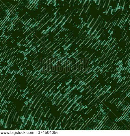 Seamless Vector Patterd Design.  Repeated Vector Green Color, Camo Wallpaper. Khaki Seamless Army Ca