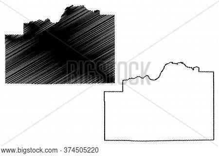 Cassia County, Idaho (u.s. County, United States Of America, Usa, U.s., Us) Map Vector Illustration,