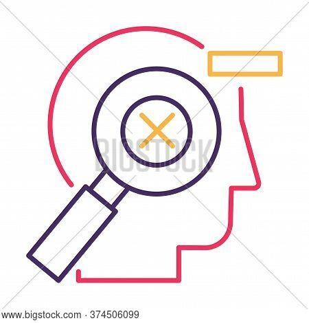Mistakes Correction, Error Management Linear Vector Pictogram