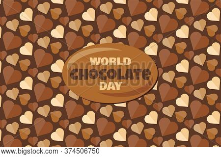 World Chocolate Day Banners With Text And Tasty Dessert Background