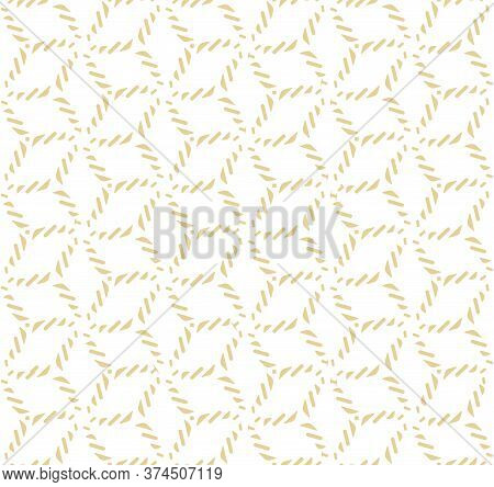 Repetitive Linear Vector Luxury Swatch Texture. Continuous Wave Graphic Gatsby Deco Pattern. Repeat