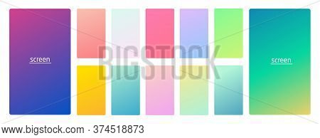 Pastel Gradient Smooth And Vibrant Soft Color Background Set For Devices, Pc And Modern Smartphone S