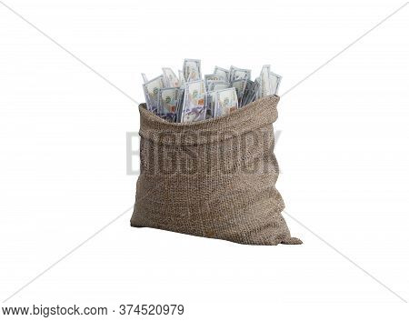 3d Rendering Bag Of Money On White Background No Shadow
