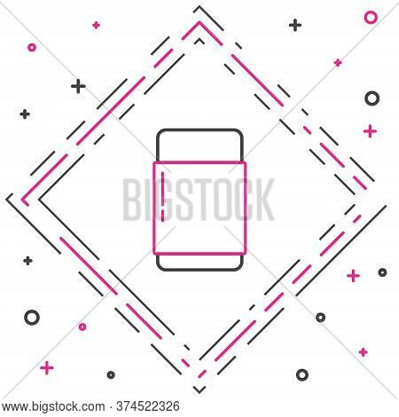 Line Eraser Or Rubber Icon Isolated On White Background. Colorful Outline Concept. Vector Illustrati