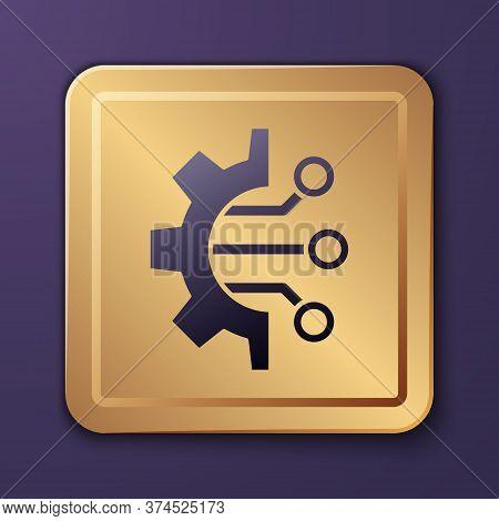 Purple Algorithm Icon Isolated On Purple Background. Algorithm Symbol Design From Artificial Intelli